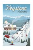 Keystone, Colorado - Retro Ski Resort Prints