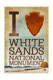 I Heart White Sands National Monument, New Mexico Prints
