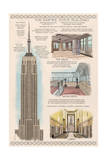 Empire State Building Technical Prints by  Lantern Press