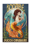 Bonaire, Dutch Caribbean - Mermaid Prints by  Lantern Press