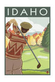 Golfer Scene - Idaho Prints by  Lantern Press