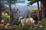 Rocky Mountain National Park - Wildlife Utopia Prints by  Lantern Press