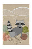 Spring Time Raccoon Posters by  Lantern Press