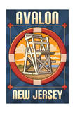 Avalon, New Jersey - Lifeguard Chair Posters by  Lantern Press