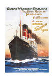 Great Western Railway - Steamship - Vintage Poster Posters by  Lantern Press