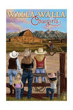Walla Walla, Washington - Cowgirls Prints by  Lantern Press