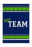 Monogram - Game Day - Blue and Green - My Team Posters by  Lantern Press