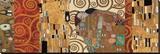 Décocollage från Uppfyllelse, Stoclet-frisen Sträckt Canvastryck av Gustav Klimt