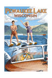 Water Skiers - Pewaukee Lake, Wisconsin Posters by  Lantern Press