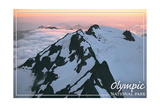 Olympic National Park - Mount Olympus at Sunrise Prints by  Lantern Press