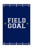 Monogram - Game Day - Blue and Green - Field Goal Prints by  Lantern Press