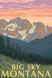 Big Sky, Montana - Spring Flowers Posters par  Lantern Press
