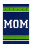 Monogram - Game Day - Blue and Green - Mom Prints by  Lantern Press