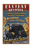 Ellijay, Georgia - Black Bear Vintage Sign Posters par  Lantern Press