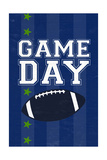 Monogram - Game Day - Blue and Green - Game Day Posters by  Lantern Press