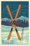 Keystone, Colorado - Crossed Skis Prints
