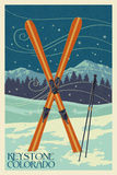 Keystone, Colorado - Crossed Skis Prints by  Lantern Press