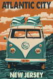 Atlantic City, New Jersey - VW Van Posters