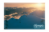 Olympic National Park - Mount Olympus at Sunset Posters by  Lantern Press