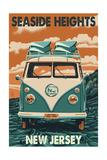 Seaside Heights, New Jersey - VW Van Poster by  Lantern Press