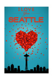 I Love You Seattle, Washington Poster by  Lantern Press