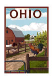 Ohio - Barnyard Scene Posters by  Lantern Press