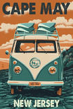 Cape May, New Jersey - VW Van Posters