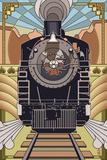 Steam Locomotive - Deco Style Prints