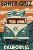 Santa Cruz, California - VW Van Print