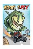 Model T-REX Dinosaur Prints by  Lantern Press