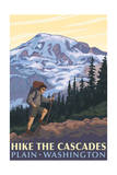 Plain, Washington - Mountain Hiker Art by  Lantern Press