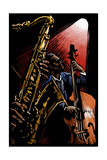 Jazz Band - Scratchboard Affiches par  Lantern Press