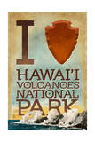 I Heart Hawaii Volcanoes National Park Prints by  Lantern Press