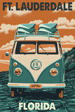 Ft. Lauderdale, Florida - VW Van Posters by  Lantern Press
