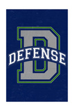 Monogram - Game Day - Blue and Green - Defense Posters by  Lantern Press