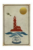 Block Island, Rhode Island - Lighthouse Icon Print by  Lantern Press