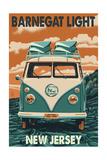 Barnegat Light, New Jersey - VW Van Art by  Lantern Press