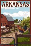 Arkansas - Barnyard Scene Poster von  Lantern Press