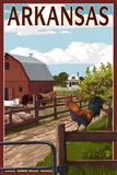 Arkansas - Barnyard Scene Posters by  Lantern Press