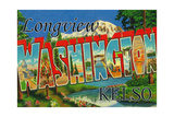Kelso - Longview, Washington - Large Letter Scenes Prints by  Lantern Press