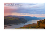 Columbia Gorge and Crown Point Prints by  Lantern Press