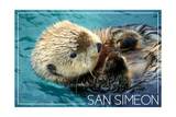 San Simeon, CA - Sea Otter Posters af Lantern Press