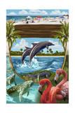Coastal Montage Prints