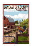 Lancaster County, Pennsylvania - Barnyard Scene Posters by  Lantern Press