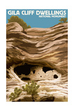 Gila Cliff Dwellings National Monument, New Mexico Poster by  Lantern Press