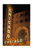 Chicago, Illinois - Chicago Theatre Poster by  Lantern Press