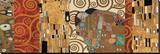 Dekorativ collage, baseret på Opfyldelsen, Stoclet-frisen Lærredstryk på blindramme af Gustav Klimt