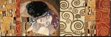 Deco Collage (from The Kiss) Trykk på strukket lerret av Gustav Klimt