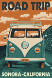 Sonora, California - Road Trip VW Van Posters by  Lantern Press