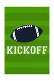 Monogram - Game Day - Blue and Green - Kickoff Art by  Lantern Press